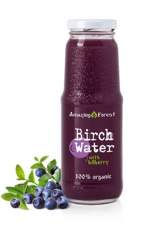 Organic Birch Water with Bilberry