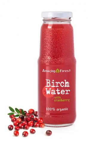 Organic Birch Water with Cranberry
