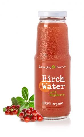 Organic Birch Water with Lingonberry